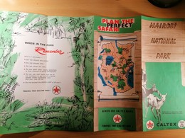 Old Large Prospekt PLAN THE PERFECT SAFARI Caltex Nairobi National Park Kenya Map Of Park 1960.'s - Altri