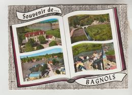 CPSM BAGNOLS (Puy De Dome) - Souvenir De......4 Vues - Other Municipalities