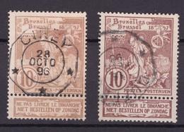 N° 72 Et 73 TELEGRAPHIQUE CINEY Et DUFFEL - 1894-1896 Exhibitions