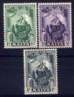 MALTE - 225/227** - 7è CENTENAIRE DU SCAPULAIRE - Malta (...-1964)
