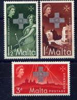 MALTE - 256/258** - GEORGE CROSS - Malta (...-1964)