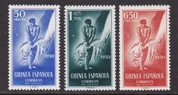GUINEA 1950 - Pro Indígenas Serie Nueva Con Fijasellos Edifil Nº 295/297 - MH - - Guinea Espagnole