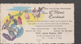 Carte De Visite Ancienne  SPA Hotel Cardinal - Cartes De Visite
