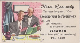Carte De Visite Ancienne  VIANDEN Luxembourg Hotel Leonardy - Cartes De Visite