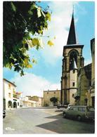 63 - LEMPDES - Place De L'Eglise Et La Poste - Editions Cim Combier - Peugeot 404 Break - Other Municipalities