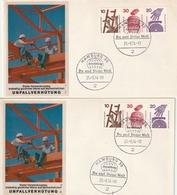 """Bundesrepublik Deutschland / 1974 / Briefe Je Mit Zusammendruck-Frankatur """"Unfallverhuetung"""" (AH48) - [7] République Fédérale"""