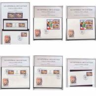 129 Charles De Gaulle - Neuf ** MNH Congo 1990 - Bel Ensemble Non Dentelé (imperforate) + Fdc ... - Briefmarken