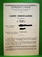 Luxembourg, Carte Frontalière, Timbre Commune Consthum 1957 - Variétés & Curiosités