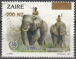 Zaïre 1994 Michel 1107 O Cote (2002) 1.20 Euro Eléphant Africain Cachet Rond - 1990-96: Oblitérés