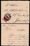 Cover + Letter - Lisbon To Guimarães, Portugal / Cancel - Lisboa Central . 1908 - 1910 : D.Manuel II