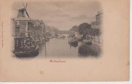 CPA Précurseur Rotterdam - Cliché Réduit : Canal Avec Péniches - Rotterdam
