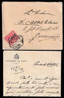 Cover + Letter - Alfandega Do Porto, Porto To Guimarâes / Cancel - Porto - 1909 - 1910 : D.Manuel II