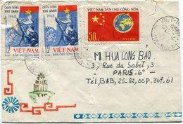 VIET-NAM LETTRE DEPART VIET-NAM 20-4-71 HA-NOI P.T. POUR LA FRANCE - Vietnam