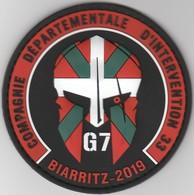 Écusson Police CDI 33 - G7 Biarritz 2019 - Politie & Rijkswacht