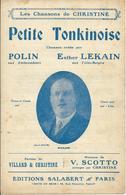 Partition De POLIN Ether LEKAIN Vincent SCOTTO VILLARD & CHRISTINE - Petite Tonkinoise - Musique & Instruments