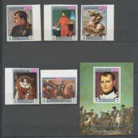 Napoléon Ier 054 - YEMEN (royaume) N° 854/58 B BORD DE FEUILLE + Bloc 173 Non Dentelé (imperforate) ** MNH - Napoleon