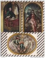 3AC594  ILLESCAS  Hospital De Ntra. Sra. De La Caridad GRECO 1541-1614  Lot De 3 Cartes 2  SCANS - Espagne