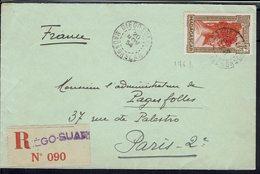 "Madagascar  - N° 176 B ""Chef Sakalave"" Seul Sur Enveloppe Recommandée De Diego-Suarez Pour Paris 20 Nov. 1934 - B/TB - - Covers & Documents"
