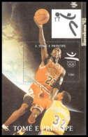 Sao Tome E Principe 213 N° 277 Basket Ball Jeux Olympiques (olympic Games) Barcelone 92 Cote 9.5 ** MNH - Sao Tome Et Principe