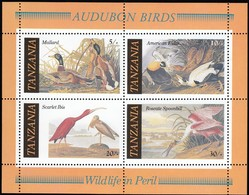 TANZANIA - Scott #309a American Bird Species By Audubon / Souvenir Sheet MNH Stamp (ss435) - Tanzania (1964-...)