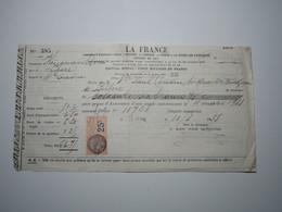 1933 MIGNAVILLERS (Haute-Saône) LA FRANCE - H. CHARATRE LURE Timbre Fiscal 25 Centimes BELFORT COUSIN - 1900 – 1949