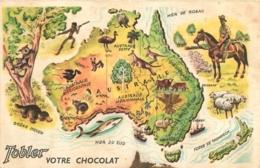 LOT DE 10 CHROMOS CHOCOLAT TOBLER LE TOUR DU MONDE N°1 A N°10 FORMAT CPA - Chocolat