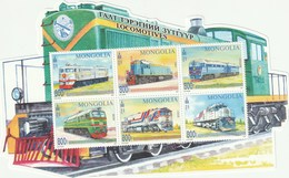 Mongolia 2017 Train Locomotive S/s MNH - Mongolei