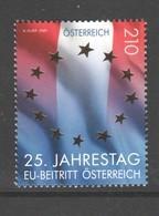 """Österreich 2020: """"25.Jahrestag EU-Beitritt Österreichs"""" Postfrisch (siehe Foto/ Scan) - 1945-.... 2ème République"""
