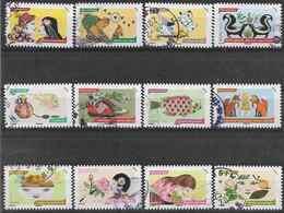 2014 FRANCE Adhésifs 1033-41 Oblitérés, Cachets Ronds, Odorat, Série Complète - Adhesive Stamps