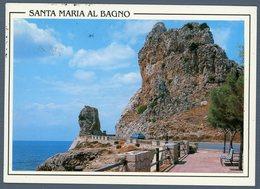 °°° Cartolina - S. Maria Al Bagno La Montagna Spaccata Viaggiata °°° - Lecce
