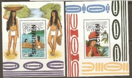 Grenada St Vincent  1989  SG  625  Discovery Of America Unmounted Mint Miniature Sheet  X 2 Overprinted SPECIMEN - Grenada (1974-...)