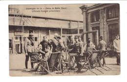CPA PREMIERE GUERRE CAMPS DE PRISONNIERS EN ALLEMAGNE N°16 - HALLE (SAXE) - OFFICIERS FRANCAIS PRISONNIERS - Guerre 1914-18
