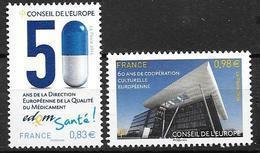 France 2014 Service N° 159/160 Neufs Conseil De L'Europe à La Faciale + 10% - Dienstpost