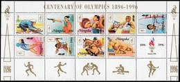 MONGOLIA - Scott #2238@2246 Atlanta '96 Olympic Games / Souvenir Sheet MNH Stamp (ss441) - Summer 1996: Atlanta