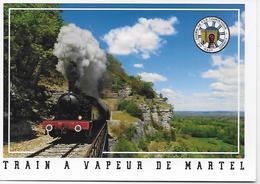 CPM - (46) - Près La Gare MARTEL - Train A Vapeur De Martel - Autres Communes