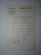 1920 BELFORT CERTIFICAT BREVET D'ENSEIGNEMENT PRIMAIRE SUPÉRIEUR UNIVERSITÉ DE FRANCE Oblitération INSPECTION DE BELFORT - 1900 – 1949