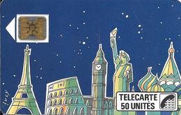 CARTE-PUBLIC1989-F59A-50U-SC4on--3/89-LUCY-(2tt A Mont)--V° N° Série105025--Utilisé-TBE - 1989