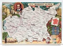 CARTE GEOGRAPHIQUE PINCHON N° 4 - BASSES ALPES - BLONDEL LA ROUGERY 1946 - Unclassified