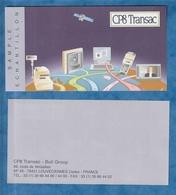 B10-E14 - Billet échantilon CP8 Transpac Violet 153x80mm - Specimen