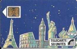 CARTE-PUBLIC1989-F59A-50U-SC4on-V1-3/89-LUCY-(2tt A Mont)--V° N° Série105225 1/2 Hors Cadre  Vers Régie-Utilisé-TBE - 1989