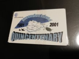 ASCENSION ISLAND   3 Pound  QUINCENTENARY CHIPCARD MINT New  Logo C&W - Ascension (Insel)