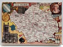 CARTE GEOGRAPHIQUE PINCHON N° 10 - AUBE - BLONDEL LA ROUGERY 1946 - Unclassified