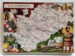 CARTE GEOGRAPHIQUE PINCHON N° 16 - CHARENTE - BLONDEL LA ROUGERY 1946 - Unclassified