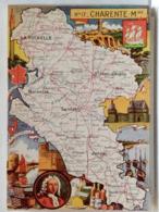 CARTE GEOGRAPHIQUE PINCHON N° 17 - CHARENTE MARITIME - BLONDEL LA ROUGERY 1946 - Unclassified