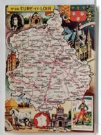 CARTE GEOGRAPHIQUE PINCHON N° 28 - EURE ET LOIR - BLONDEL LA ROUGERY 1946 - Unclassified