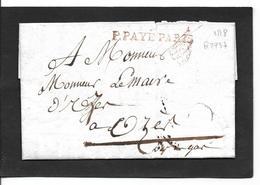 1818  Paris  Avec Cachet De Franchise - Storia Postale