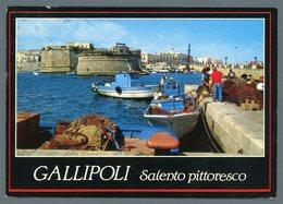°°° Cartolina - Salento Pittoresco Gallipoli Castelli E Ponte Seicentesco Viaggiata °°° - Lecce