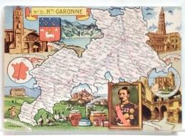 CARTE GEOGRAPHIQUE PINCHON N° 31 - HAUTE GARONNE - BLONDEL LA ROUGERY 1945 - Unclassified