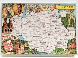 CARTE GEOGRAPHIQUE PINCHON N° 32 - GERS - BLONDEL LA ROUGERY 1946 - Unclassified