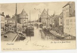 """7 - Courtrai - La Lys Et Le Broel-Toren  """" Nels Série 41 N°25 - Kortrijk"""